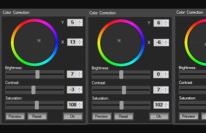 CutFour Pro color corrector interface